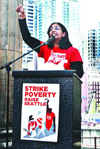 Kshama Sawant, socialist councillor in Seattle, photo Socialist Alternative, US