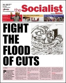 The Socialist issue 883 front page - Fight the flood of cuts