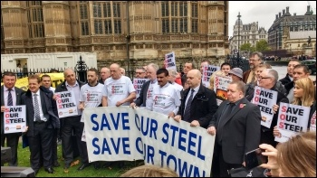 Steel crisis: sold down the river by Tata. Nationalise now to save jobs!