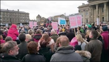 2,000 demonstrate against Huddersfield's A&E closure, photo Iain Dalton