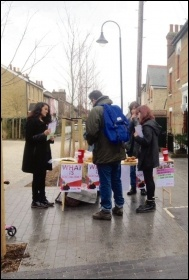 Socialist Students raising money to fund travel to conference, photo by Helen Pattison