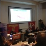 John McDonnell speaking at Newham United Against Austerity meeting, photo Ben Robinson
