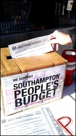 Southampton TUSC budget consultation