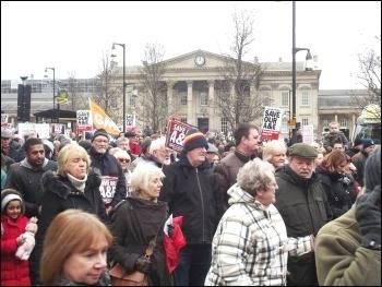 Huddersfield demo against A&E closure, 27.2.16