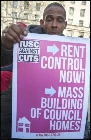 TUSC housing placard, photo Paul Mattsson