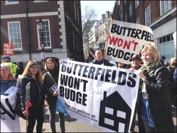 Housing demo, London, 13.3.16, photo S Wrack