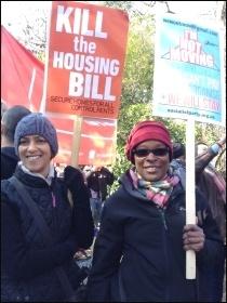 Housing demo, London, 13.3.16, photo J. Beishon
