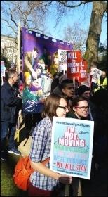 Housing demo, London, 13.3.16, photo Martin Powell-Davies