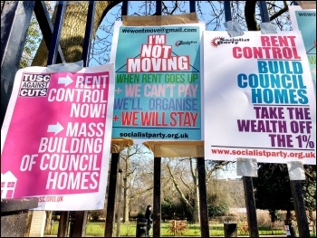 Housing demo, London, 13.3.16, photo James Ivens