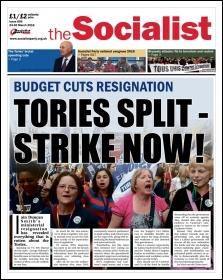 The Socialist issue 894 front page: Tories split - strike now!