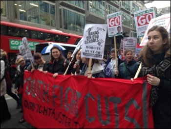 Anti- academies march, London, 23.3.16 , photo by S Wrack