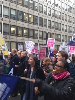 Anti- academies march, London, 23.3.16 , photo  S Wrack