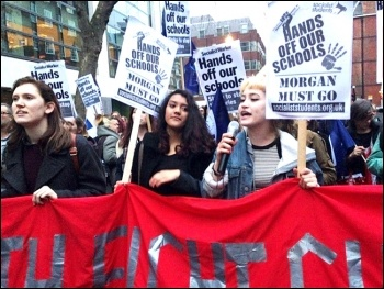 Education protest, photo S Wrack