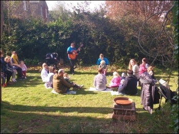 Carnegie Library in Lambeth, children's music session, April 2016, photo James Ivens