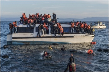 Refugees risk their lives at sea photo Wikimedia Commons (Creative Commons)