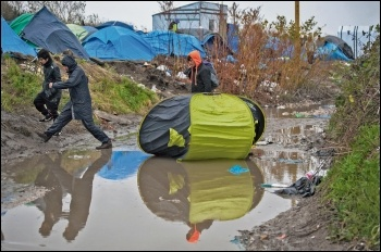 Refugees in Calais, photo by Paul Mattsson