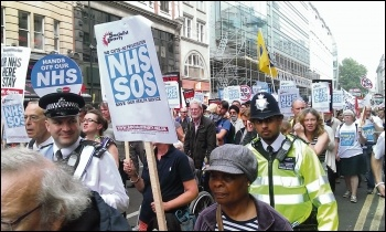 Marching to save the NHS, photo by Paul Mattsson