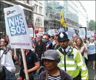 Marching to Save the NHS, photo Paul Mattsson