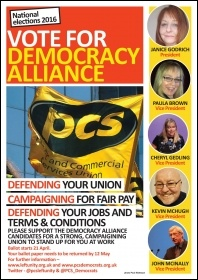 Vote Democracy Alliance leaflet