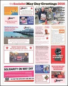 May Day greetings 2016