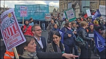 Striking together could topple the Tories, photo by Senan