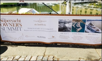 Advert for the Superyacht Owners Summit, photo by Scott Jones
