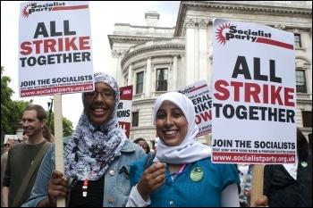 All strike together