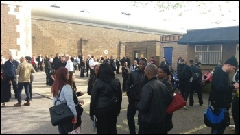 Walk-out at Wormwood Scrubs on 6 May