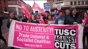 TUSC at Leeds May Day Demo 2016, photo Iain Dalton