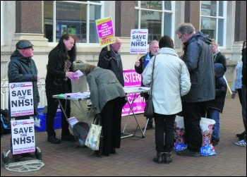 Carlisle campaign stall, 30 April, photo Carlisle SP