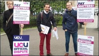 UCU strike, 25.5.16, Cardiff, photo by Dave Reid