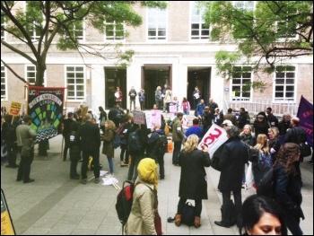 UCU strike, 25.5.16, London, photo by Paula Mitchell