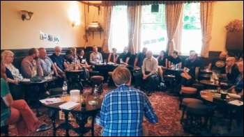 Greater Manchester TUSC meeting on the EU referendum, June 2016, photo by Becci Heagney