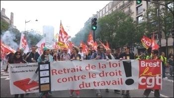 14 June 2016 demo, Paris, photo by Naomi Byron