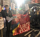 Leeds vigil to give solidarity with Orlando LGBT shooting victims, 13.6.16