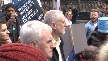 Trapped behind enemy lines: Labour Party leader Jeremy Corbyn and John McDonnell