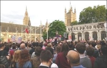 Outside parliament, 27.6.16, photo by Scott Jones