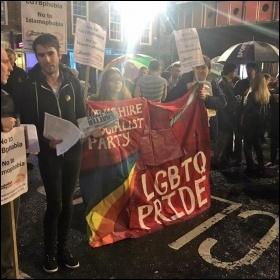 Socialist Party members on the Leeds vigil photo Leeds Socialist Party