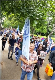 NUT marching in Leicester, 5.7.16, photo by Steve Score