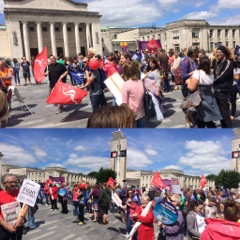 NUT strikers in Southampton, 5.7.16, photos by Nick Chaffey
