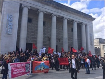 Demonstrating against fascists in Southampton, 2.7.16, photo by Soton SP