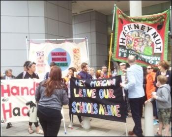 NUT demo in Hackney, 5.7.16, photo by Clare Doyle