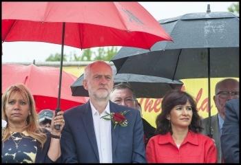 Jeremy Corbyn at Durham Miners' Gala July 2016, photo Paul Mattsson