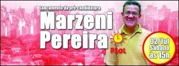 Marzeni Pereira, contesting a council seat in Brazil
