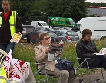Reading the Socialist, RF Brookes strike, July 2016