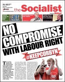 The Socialist issue 911 front page: No compromise with Labour right