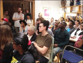 Hackney & Islington SP meeting: black lives matter, 27.7.16 , photo J. Beishon
