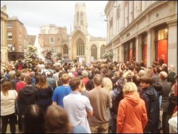 Jeremy Corbyn rally in York, 29.7.16, photo Nigel Smith