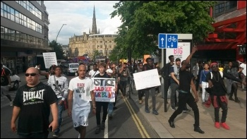 BLM demo, Sheffield, photo by A Tice