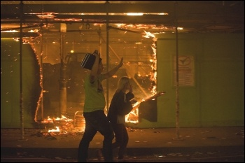 London riots 2011, photo by Paul Mattsson